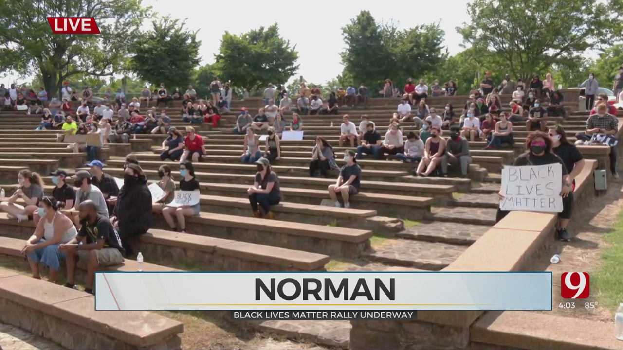 Protesters Gather In Norman Park For Black Lives Matter Rally