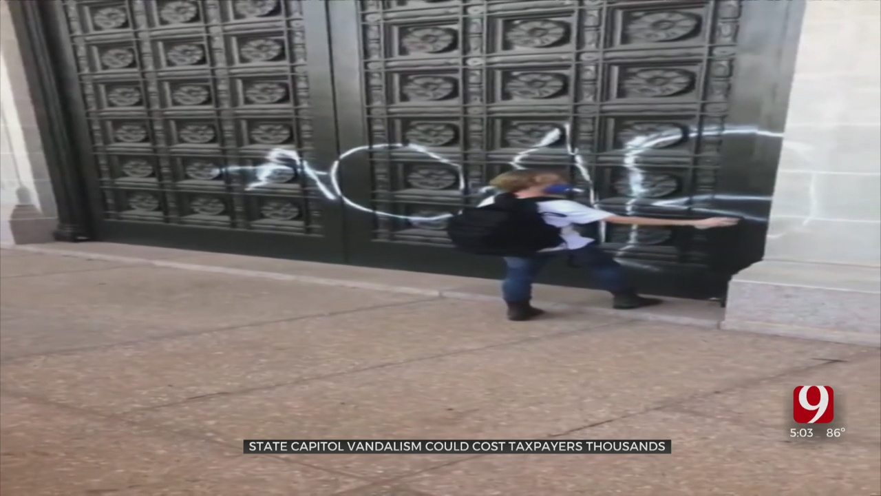 Vandalism To State Capitol Building Could Cost Thousands To Repair, Restoration Manager Says