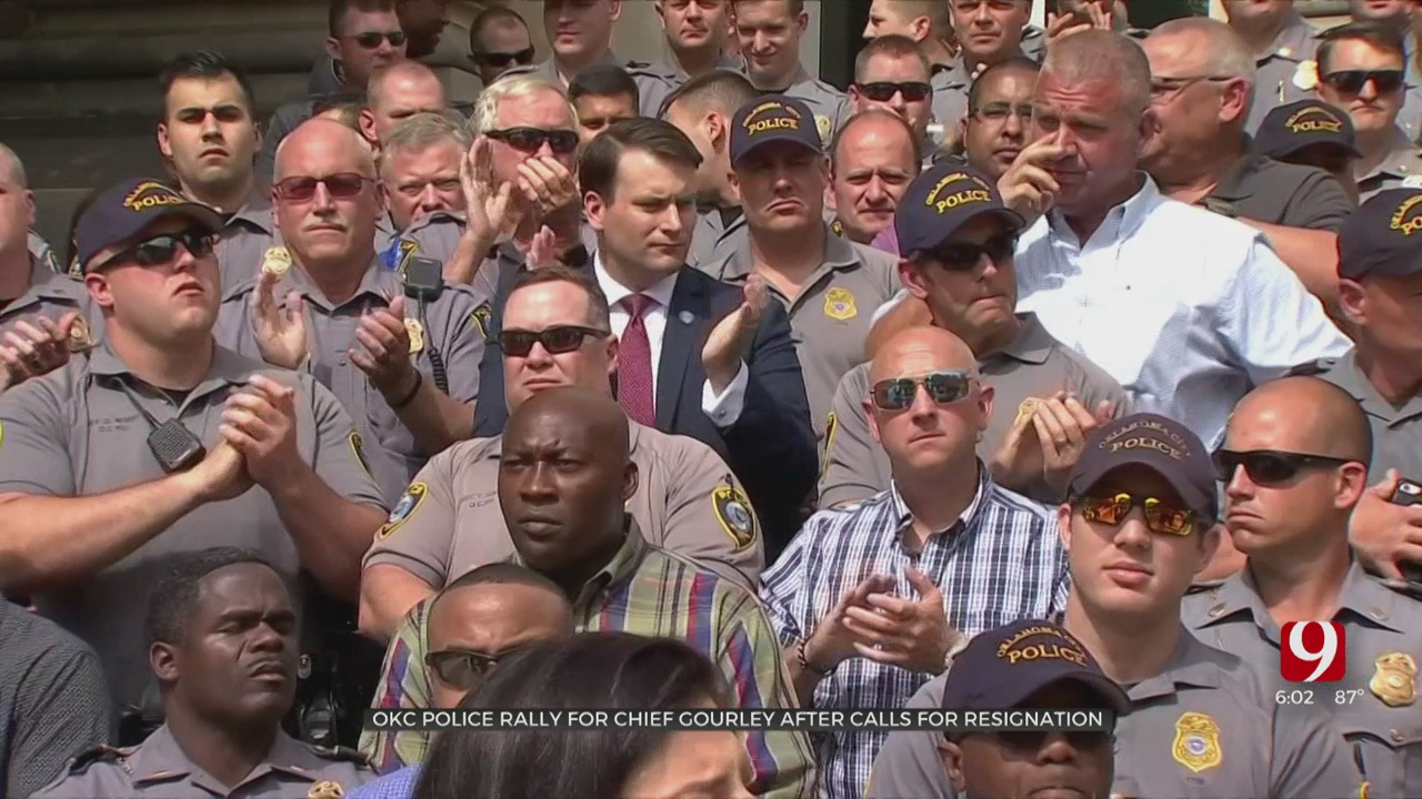 OKC FOP, Officers Rally For Police Chief After Protesters Call For His Resignation