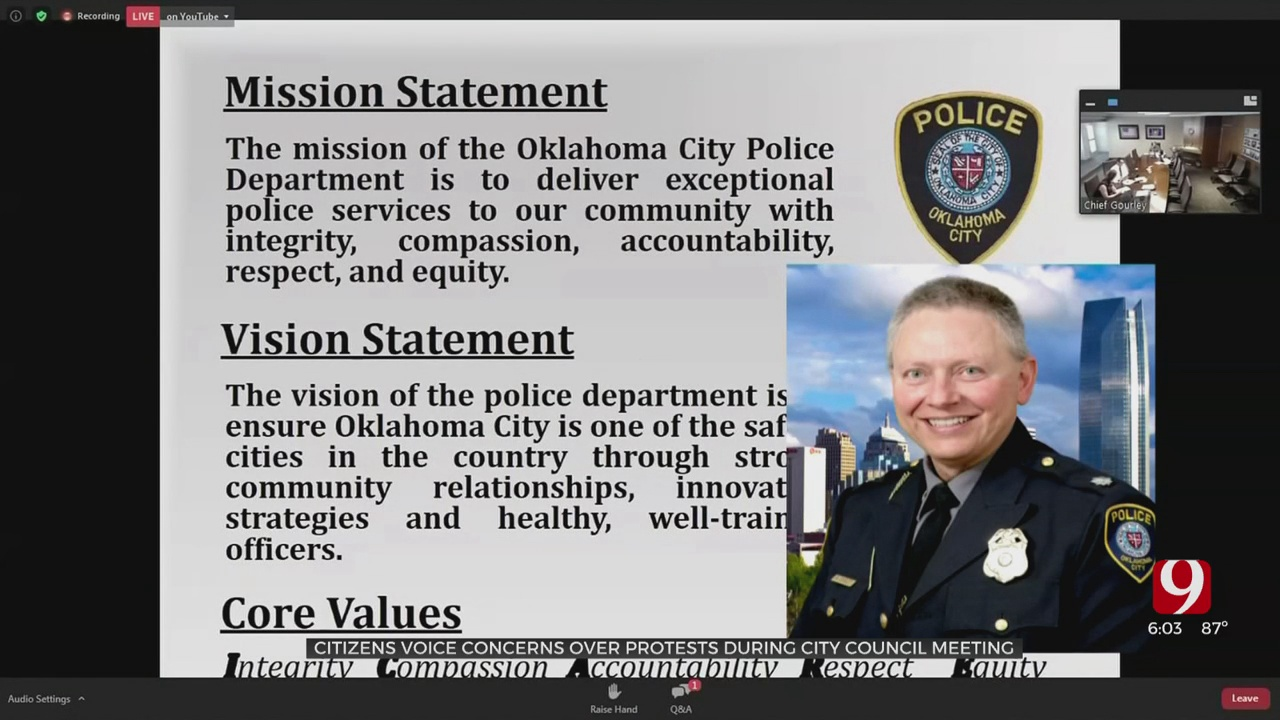 OKC Residents Voice Concerns To Police Chief