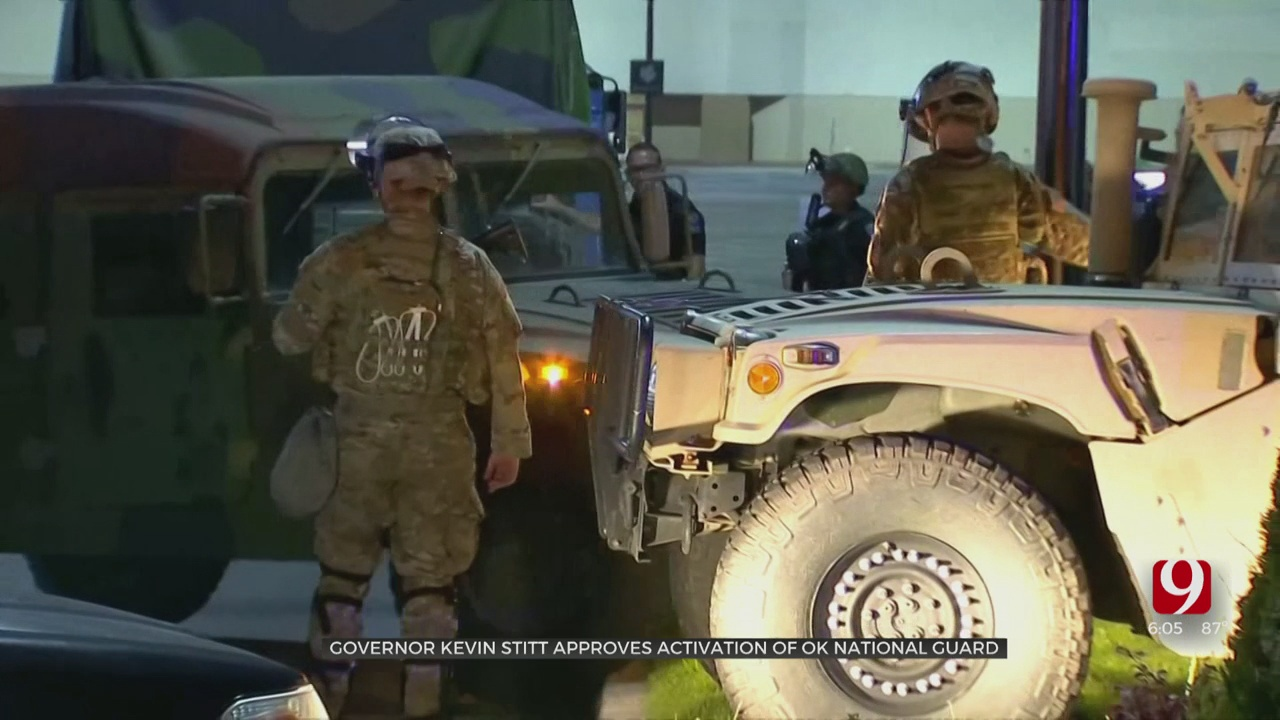 National Guard Troops On Ground In Tulsa, OKC