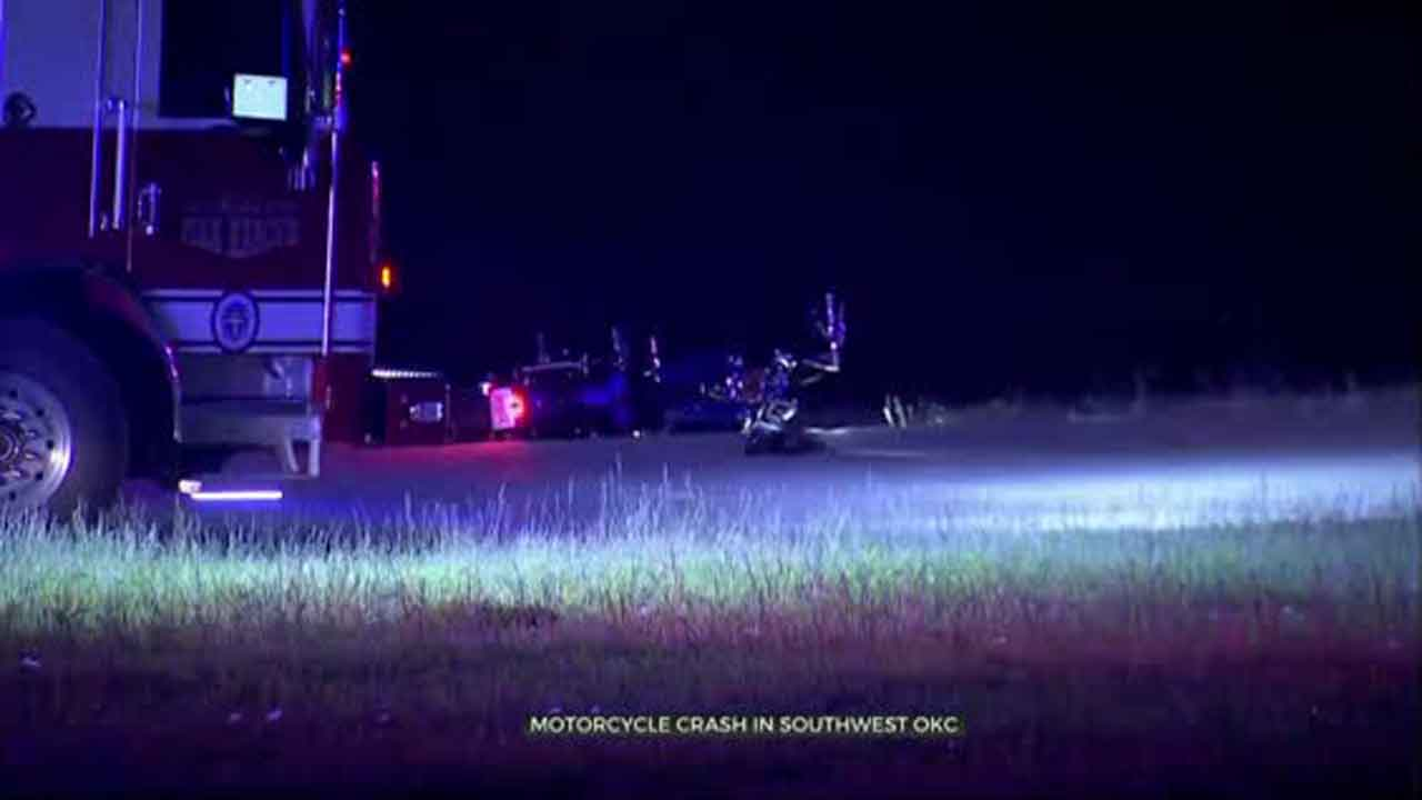 OKC Police Investigate Cause Of Motorcycle Crash That Sent 2 To Hospital