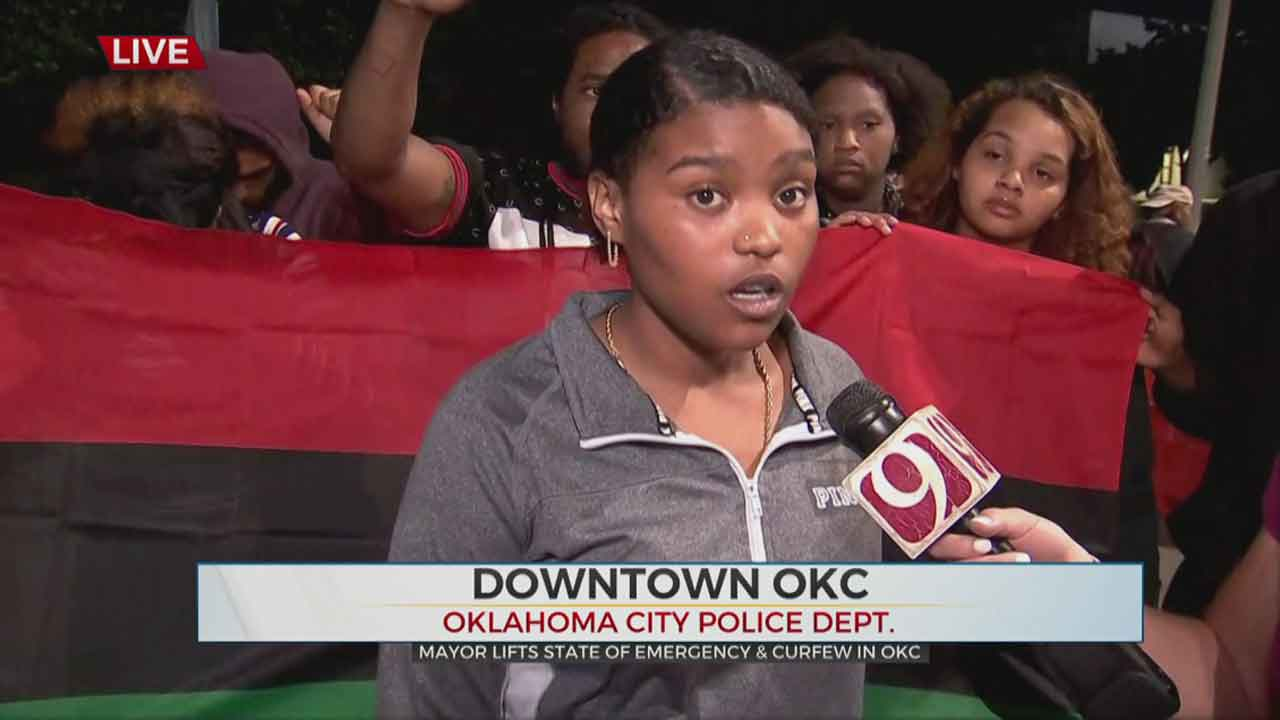 Protesters Return To Downtown OKC, Call For Governor's Presence