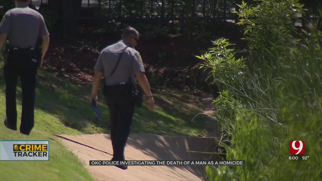 NW OKC Apartment Resident Discovers Murder Victim In Drainage Ditch