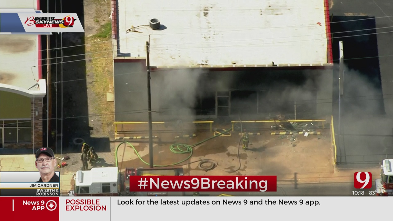 Firefighters Knock Down Commercial Building Fire In SW OKC