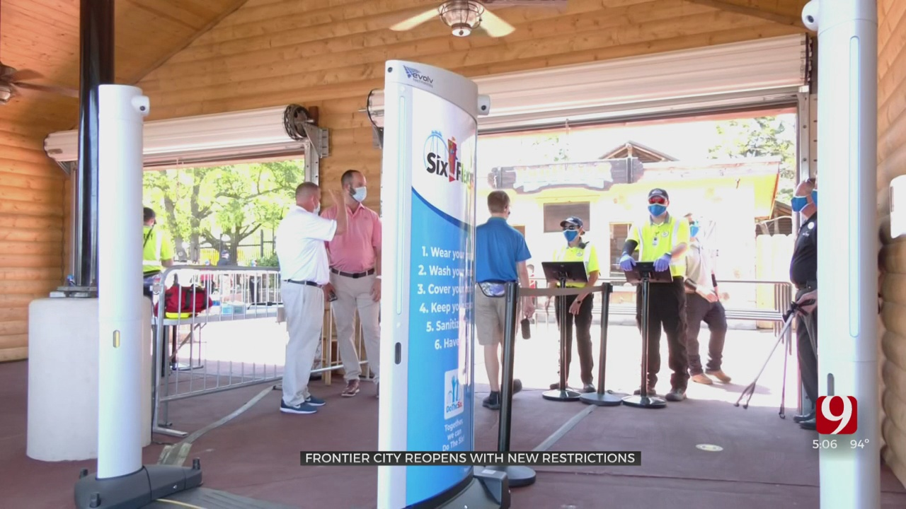 Frontier City Reopens With New Safety Measures