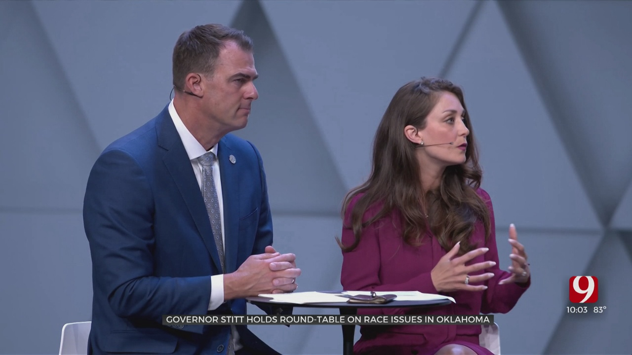 Gov. Stitt, First Lady Sarah Stitt Discuss Racial Inequality During Sunday Roundtable