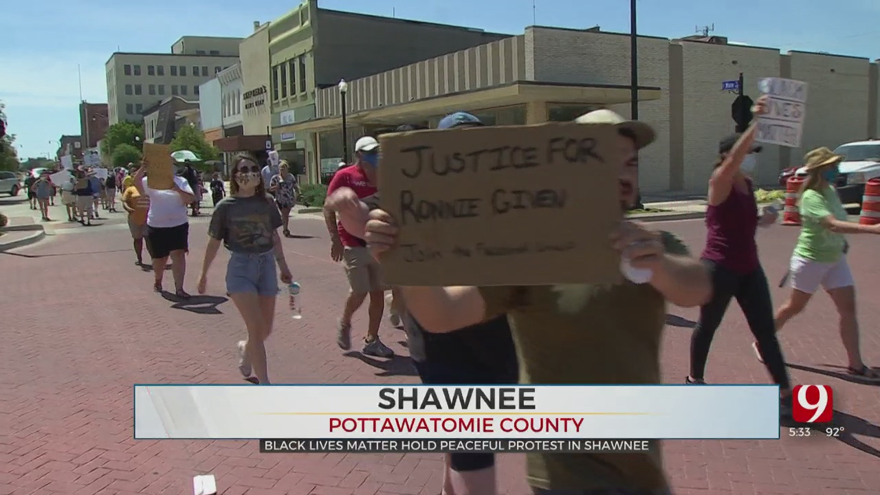 Group Representing Black Lives Matter Holds Protest In Shawnee