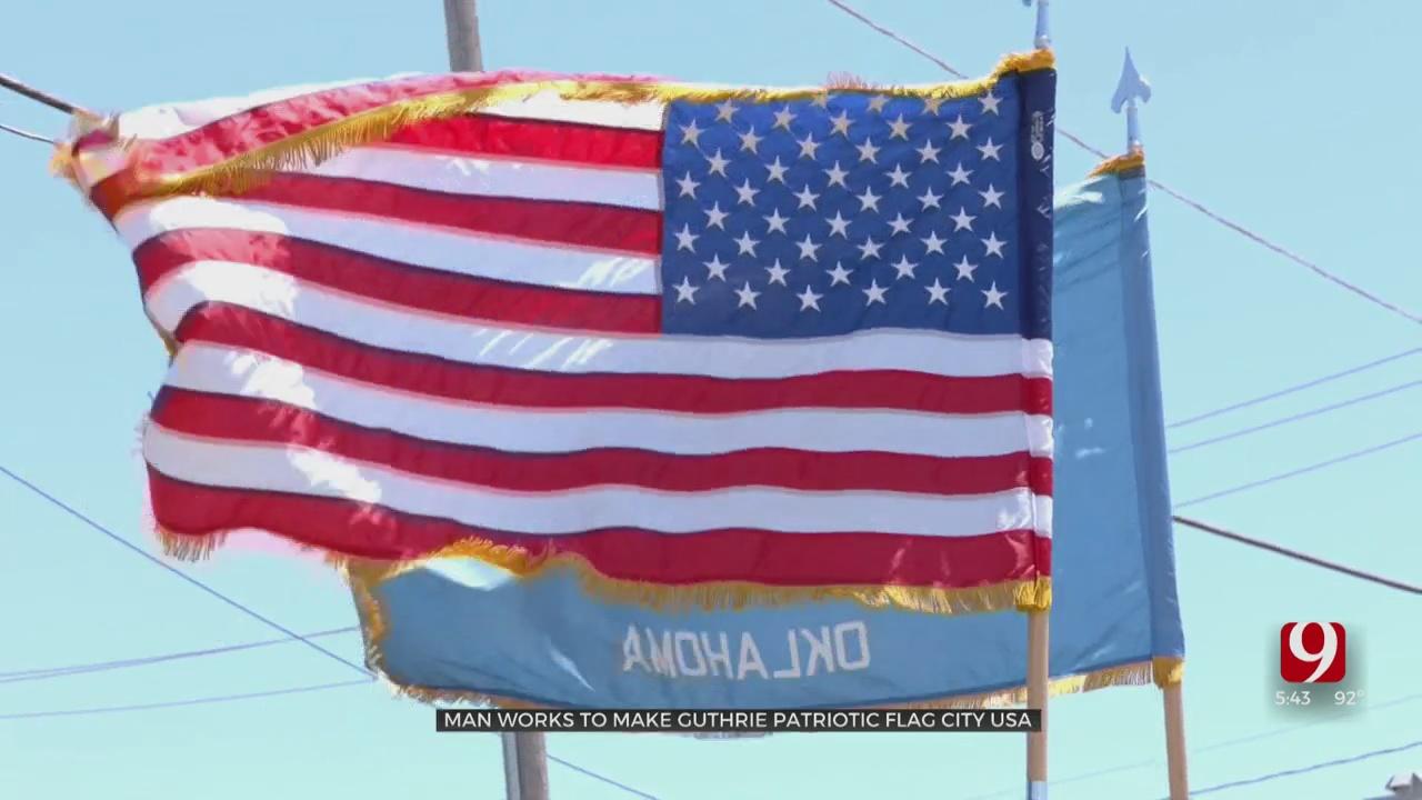 Man Works To Make Guthrie 'Patriotic Flag City USA'
