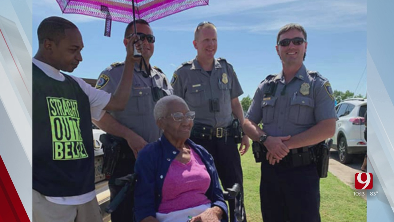 Oklahoma Together: OCPD Helps Woman Celebrate 86th Birthday