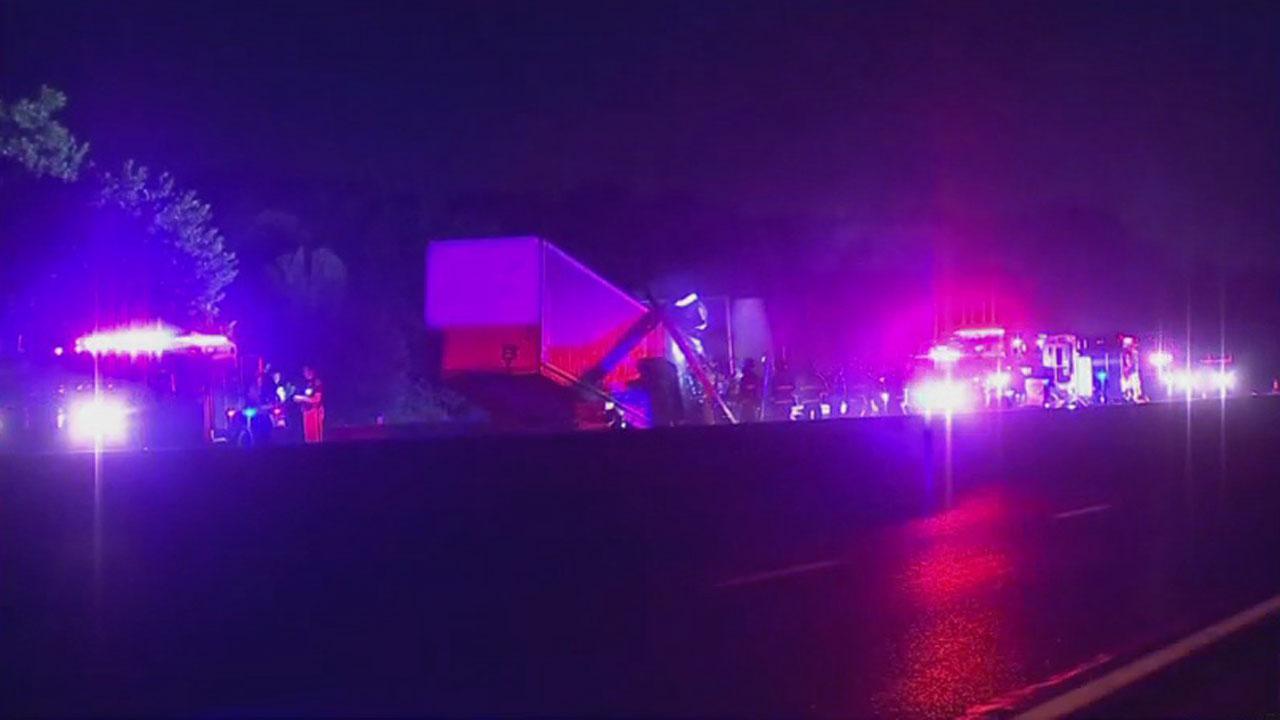 Semi-Truck Trailer Catches Fire On Turner Turnpike