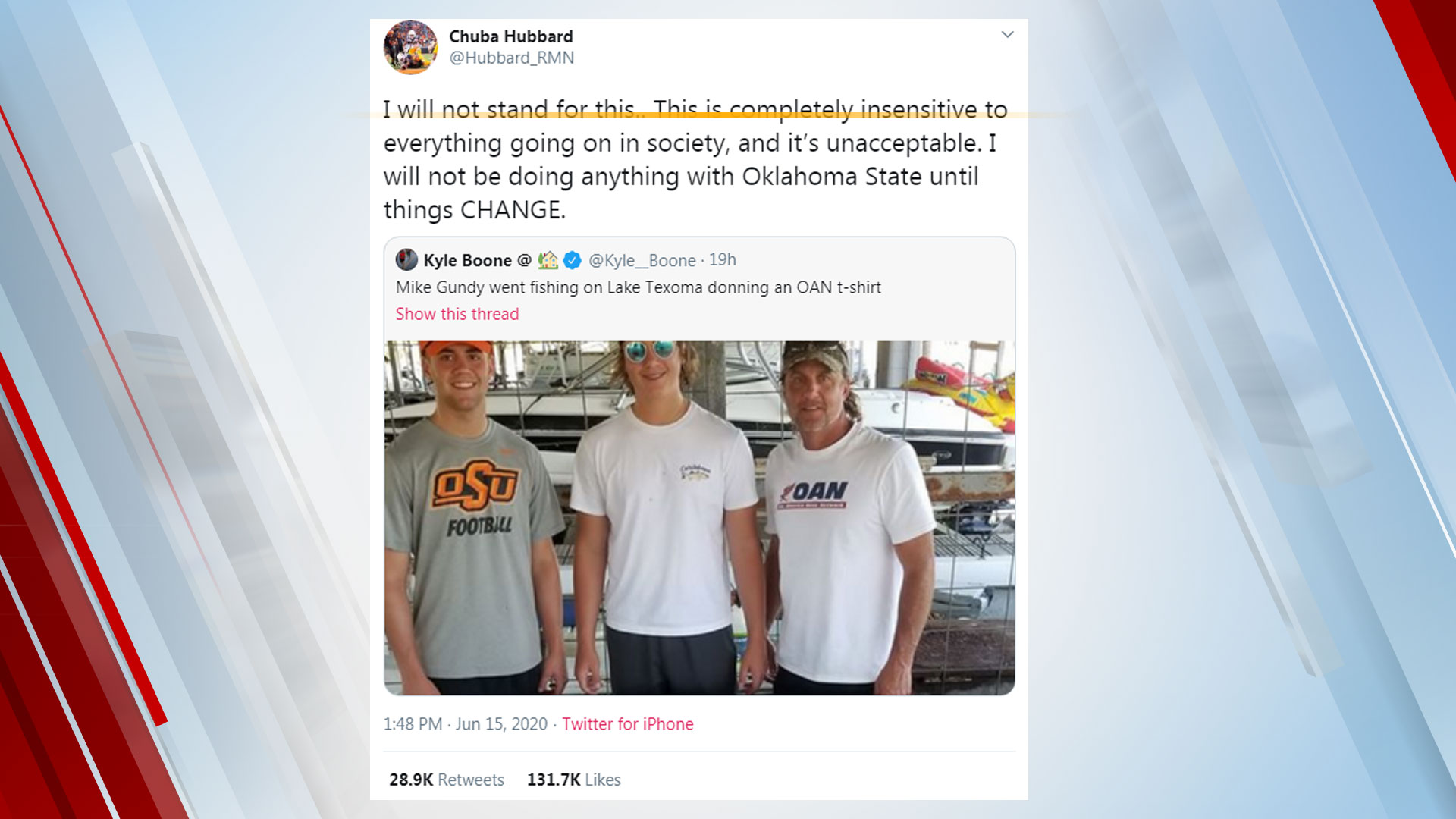 Mike Gundy Promises Change To OSU Football Program After Photo Of Him In Controversial Shirt