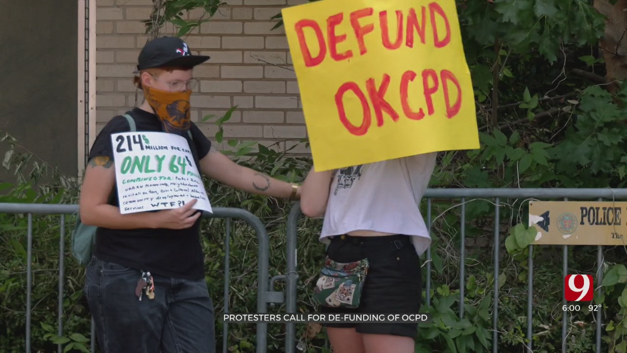 Demonstrators Call For OKC Police To Be Defunded