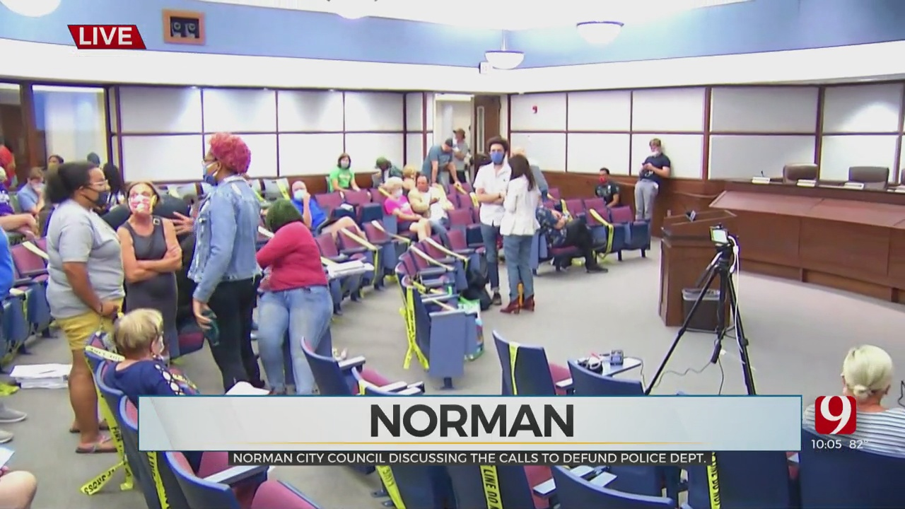 Norman City Council Meets To Discuss Calls To Defund Police Department