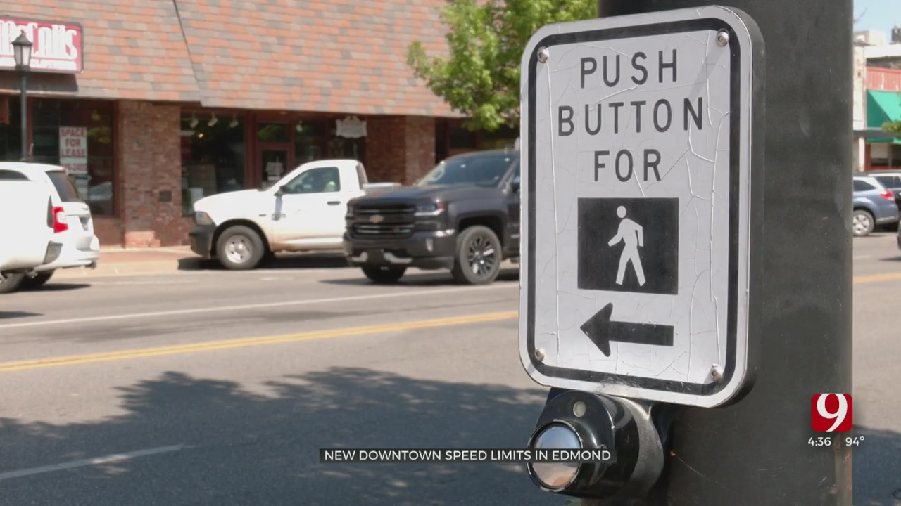 City Of Edmond Changing Speed Limit In Its Downtown Area