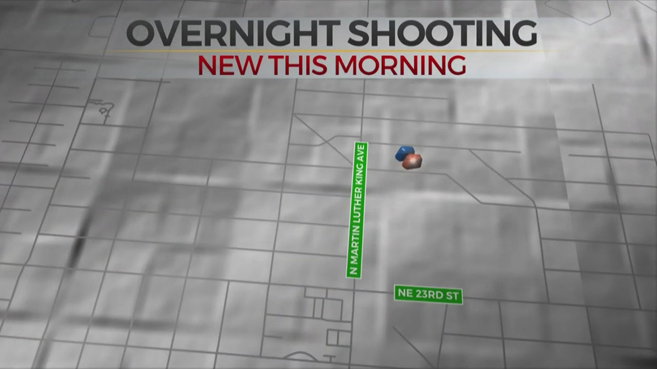 1 Shot In Leg Overnight In NE OKC