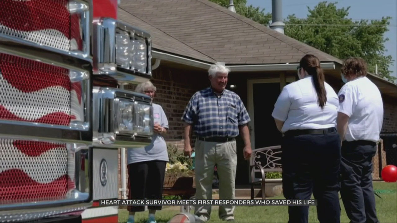 Heart Attack Survivor Thanks OKC First Responders Who Saved His Life