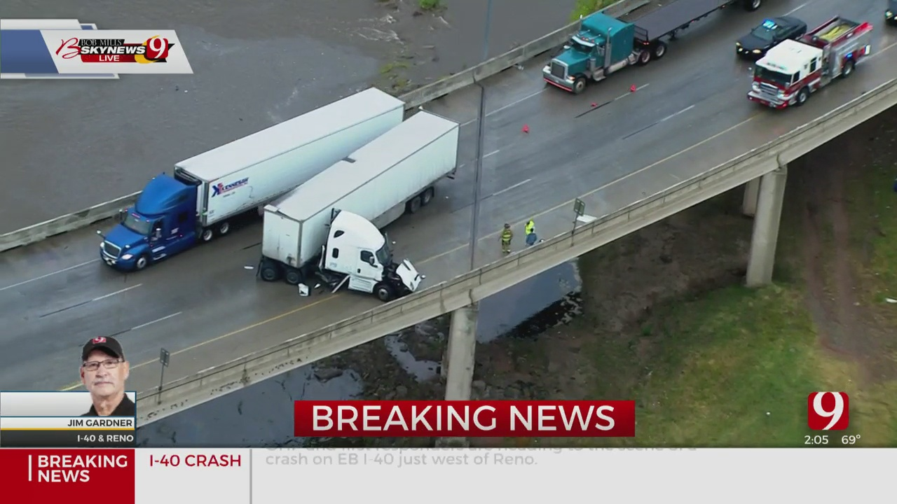 Injury Accident Resulting In Fuel Spill On Interstate 40