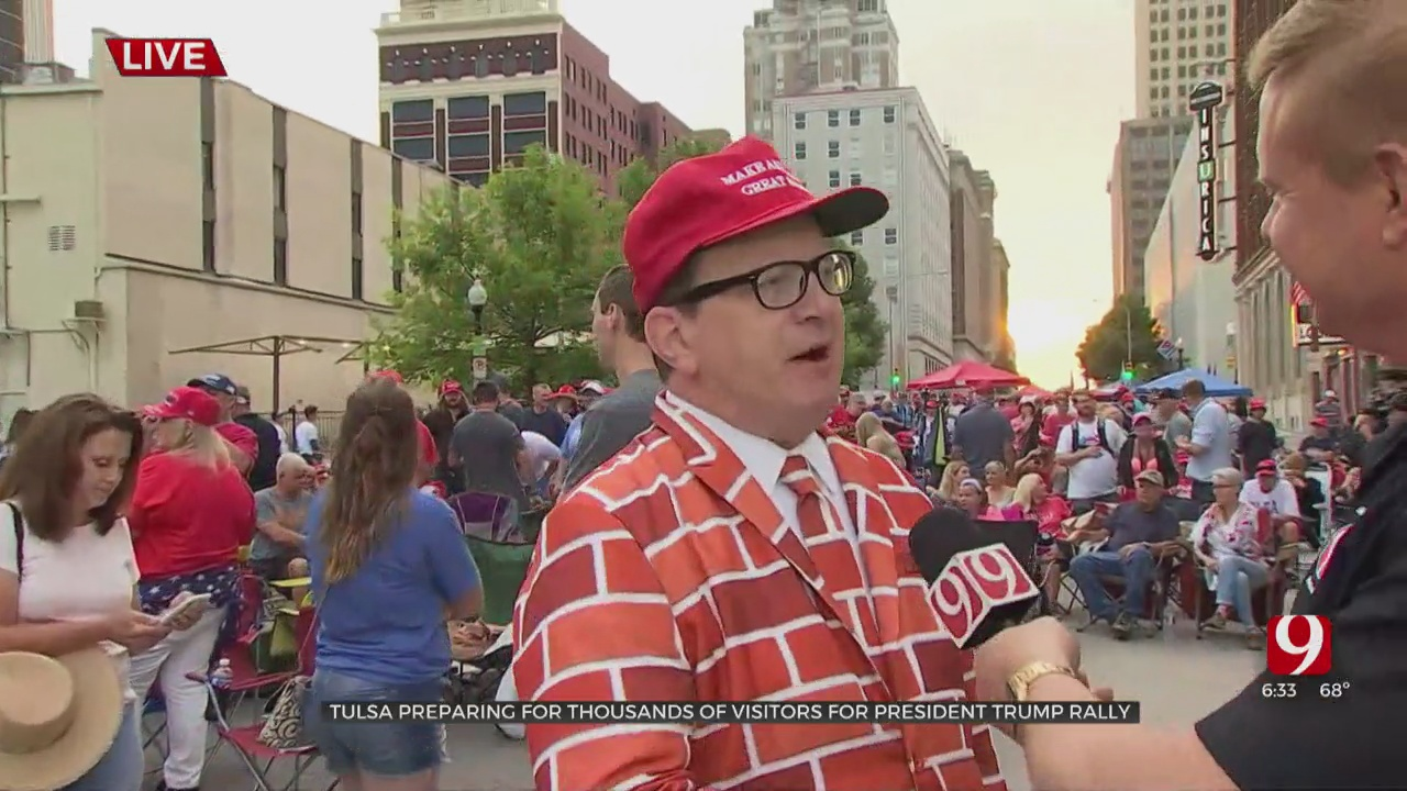 Supporters Of President Trump Excited For Return Rally