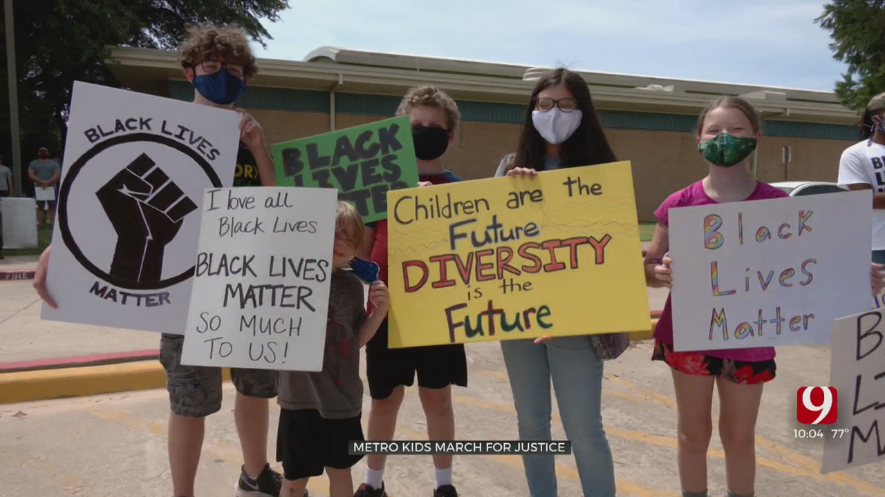 Kids Take Center Stage In BLM March