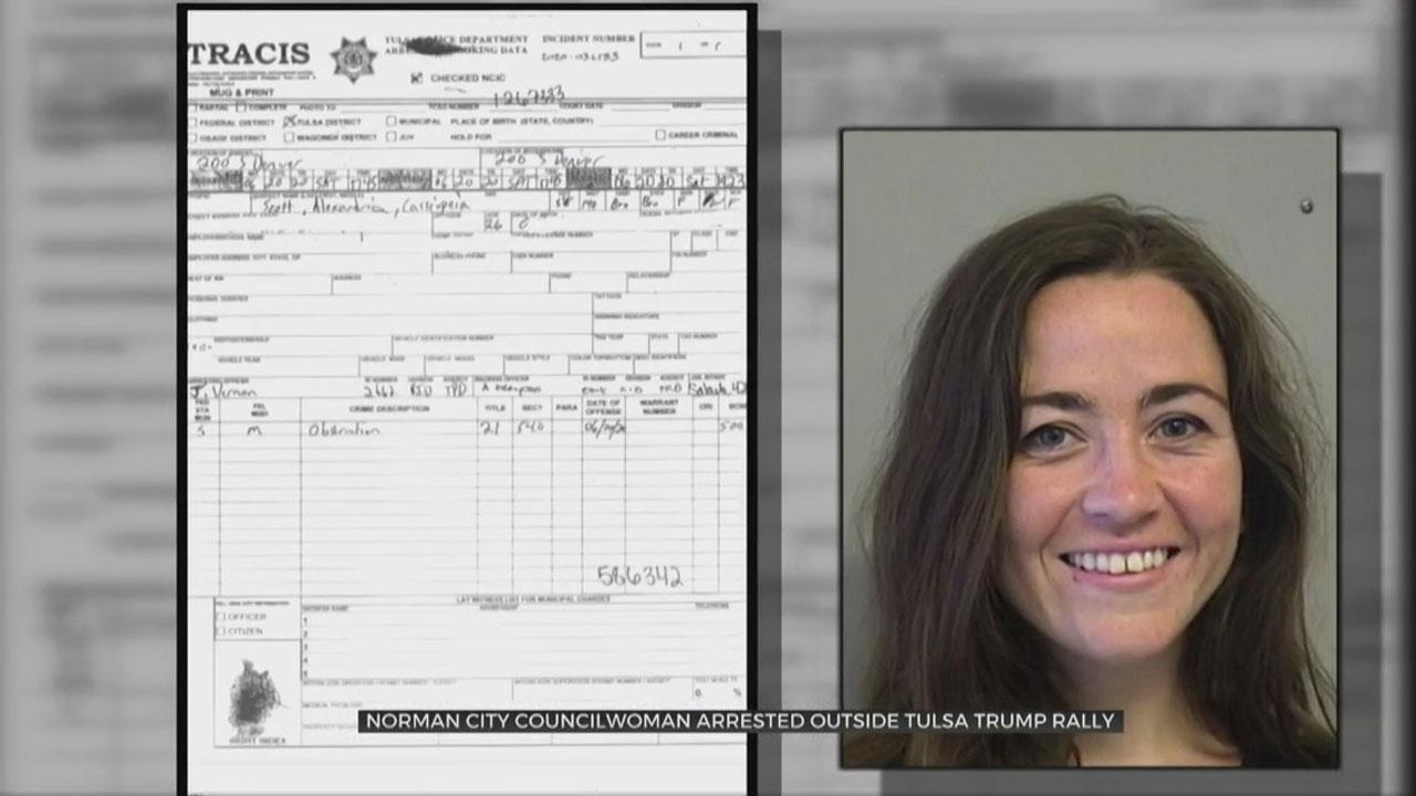 Norman City Councilwoman Arrested Outside Tulsa Trump Rally