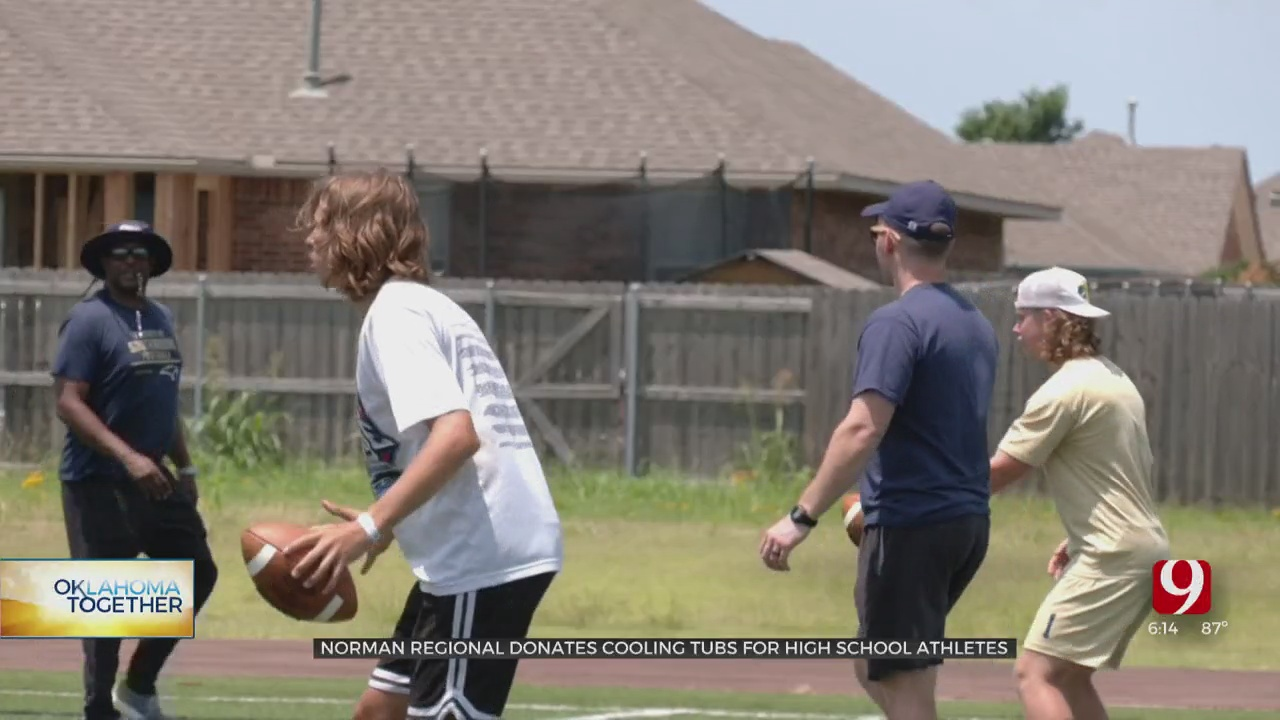 Norman Regional Donates Cooling Tubs For High School Athletes