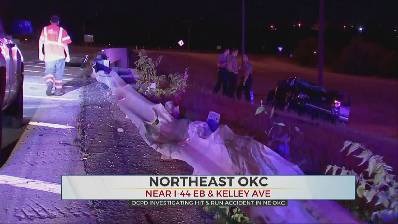 Police Search For Driver In NE OKC Hit And Run Crash