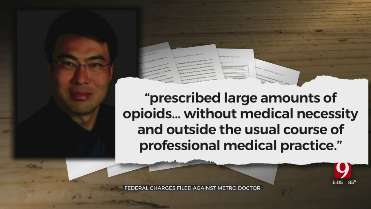 Federal Charges Filed Against OKC Doctor In Connection With 3 Opioid Deaths