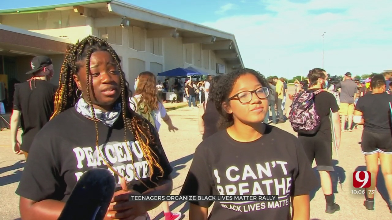 Teenagers Organize Black Lives Matter Rally In NE OKC