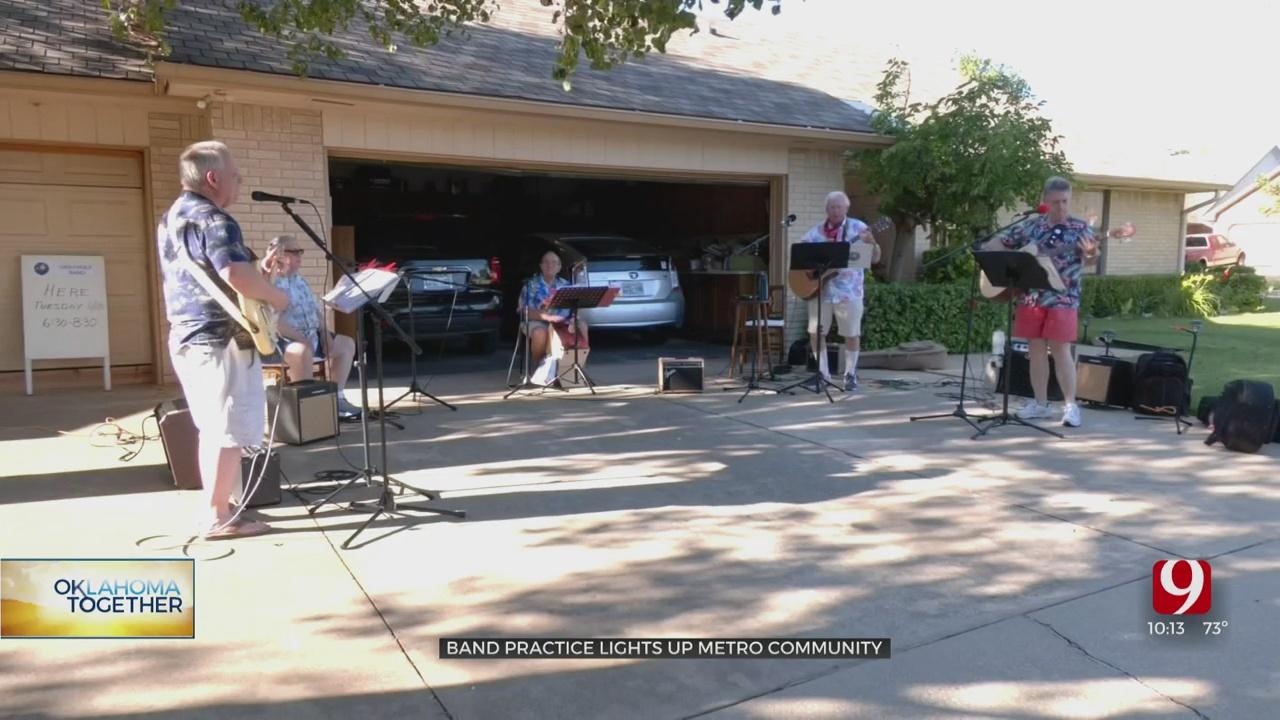 Band Practice Lifts Spirits Of NW OKC Neighbors During Pandemic