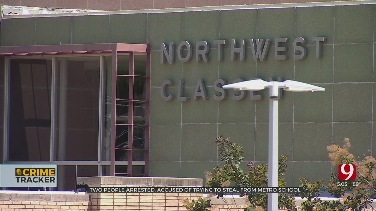 2 People Arrested, Accused Of Trying To Steal From OKC High School