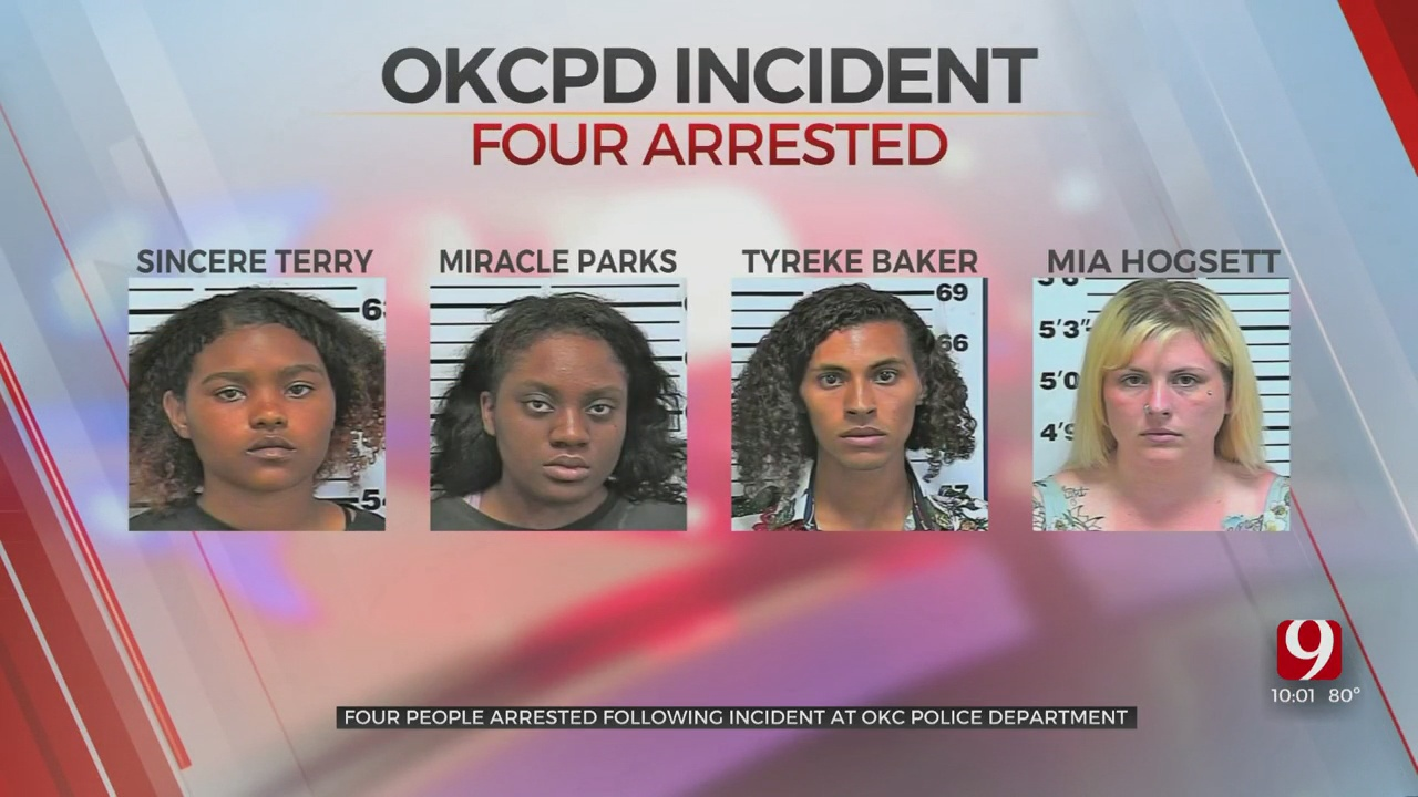 4 Arrested Following Incident Inside OKC Police Lobby
