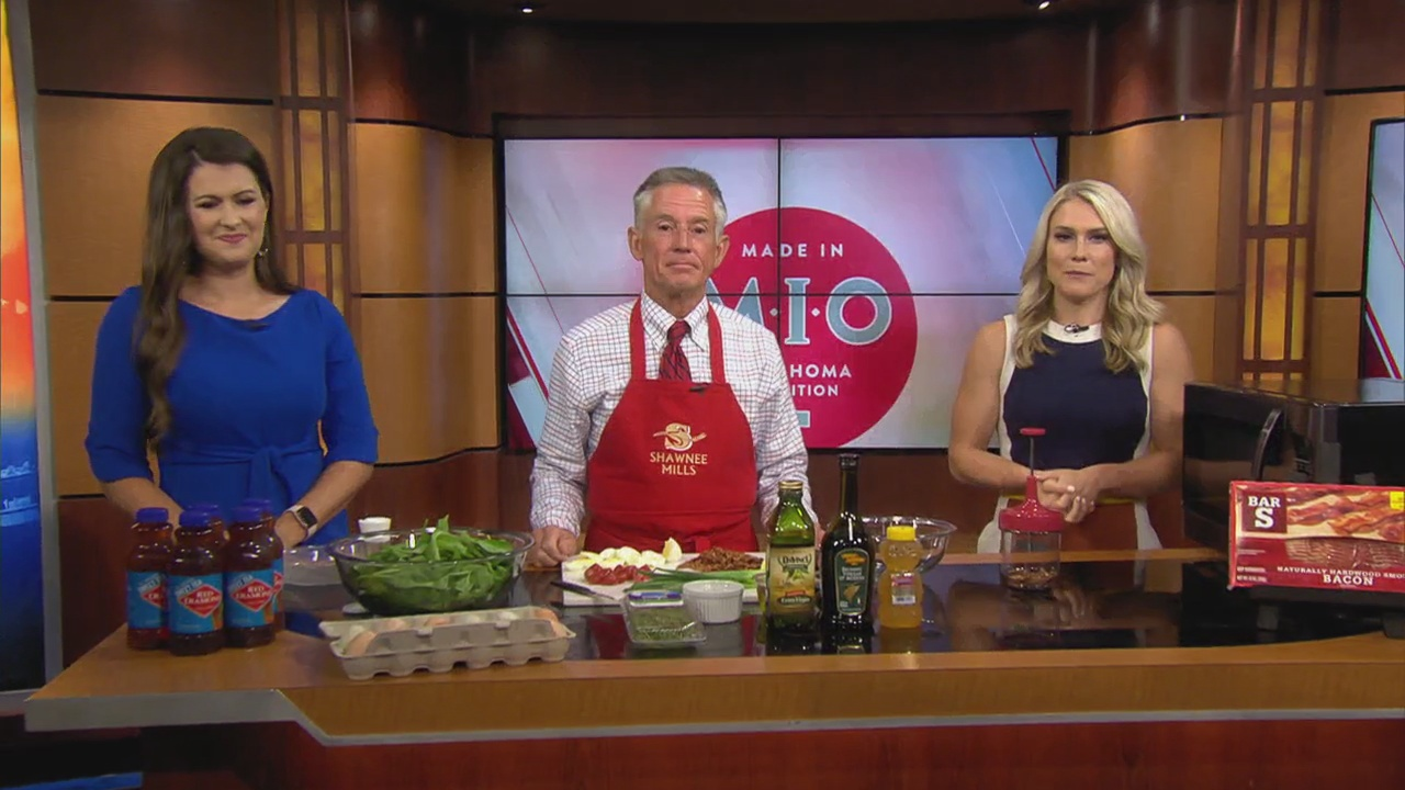 Made In Oklahoma: Spinach Salad with Warm Bacon Dressing