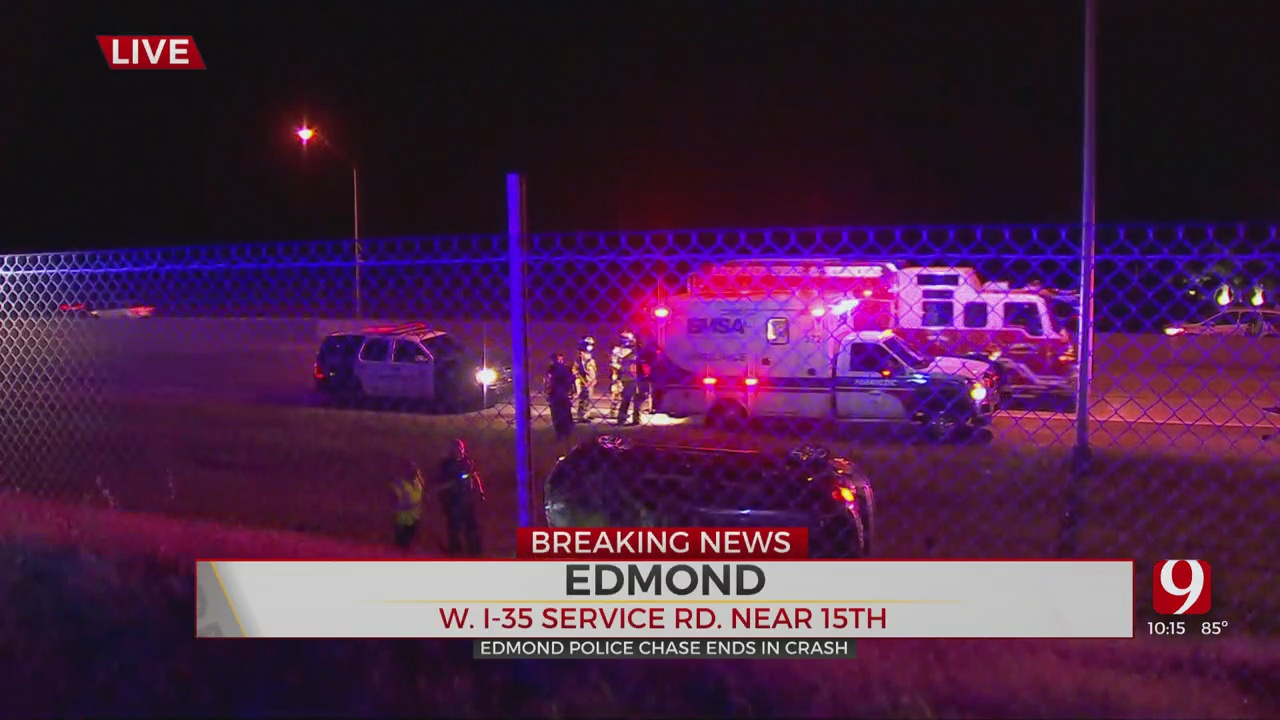 Edmond Police Chase Ends In Rollover Crash