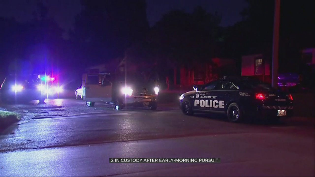 2 In Custody After Early Morning SE OKC Pursuit