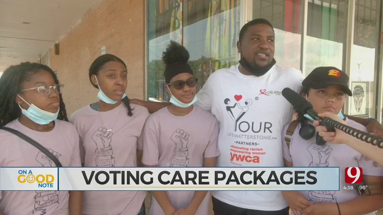 Black Lives Matter Youth Division Hands Out Care Packages To Voters
