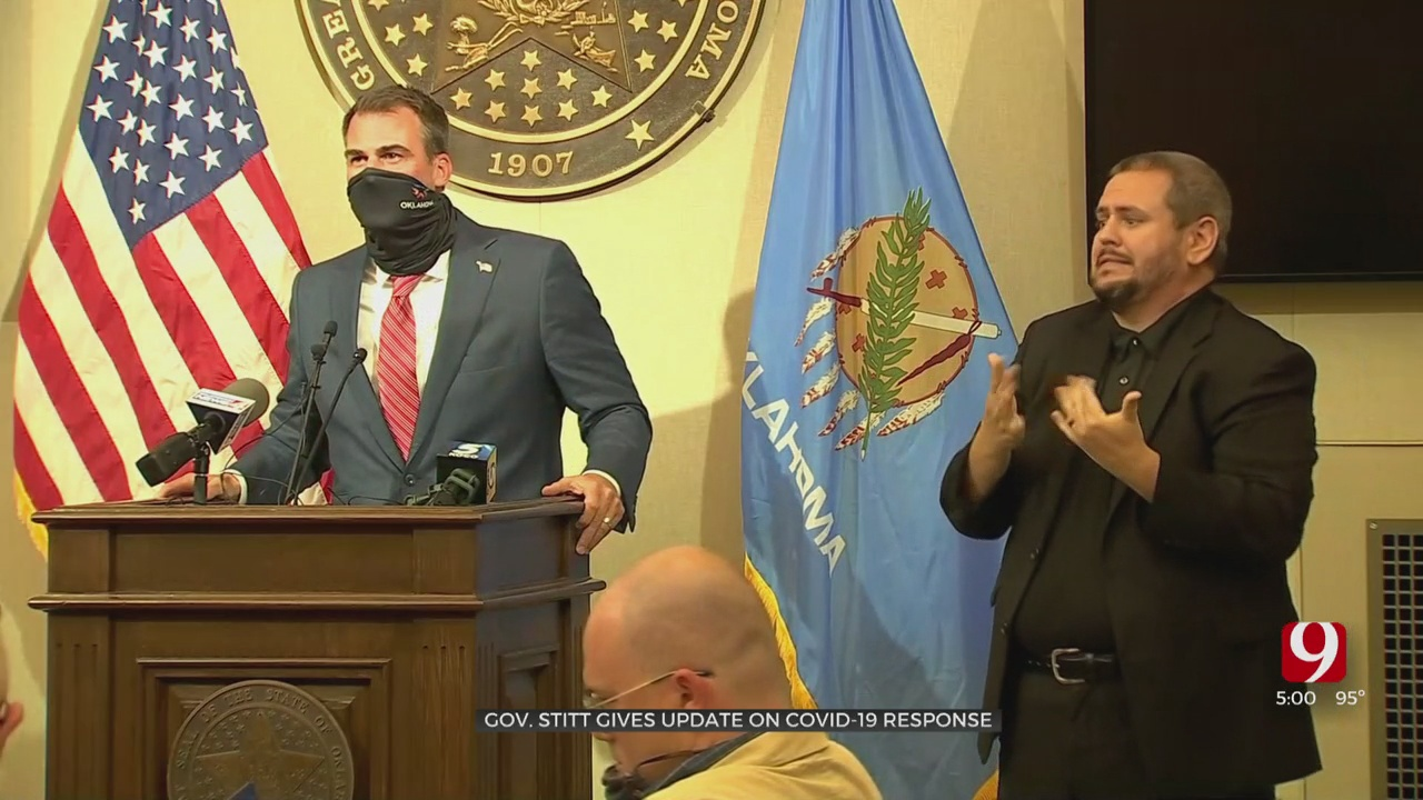 Gov. Stitt Recommends Wearing Face Masks During Update Concerning COVID-19 In State