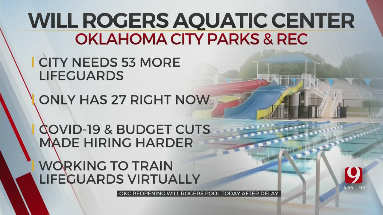 OKC Reopens 1 Pool, Trains Other Lifeguards Virtually