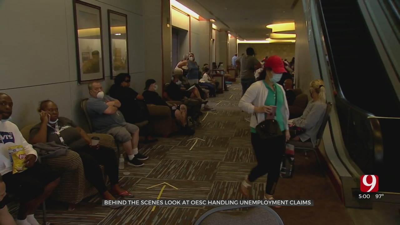 News 9 Takes Behind The Scenes Look At OESC Handling Unemployment Claims