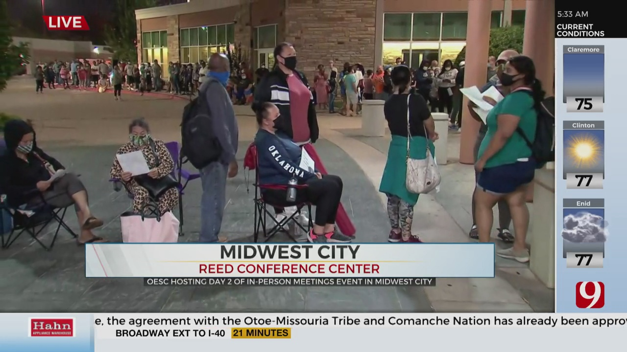 Frustrated Oklahomans Return To Reed Center For Unemployment Help