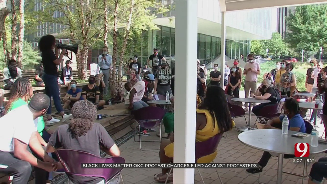 Black Lives Matter OKC Protest Against Charges Filed In Connection With Earlier Protests