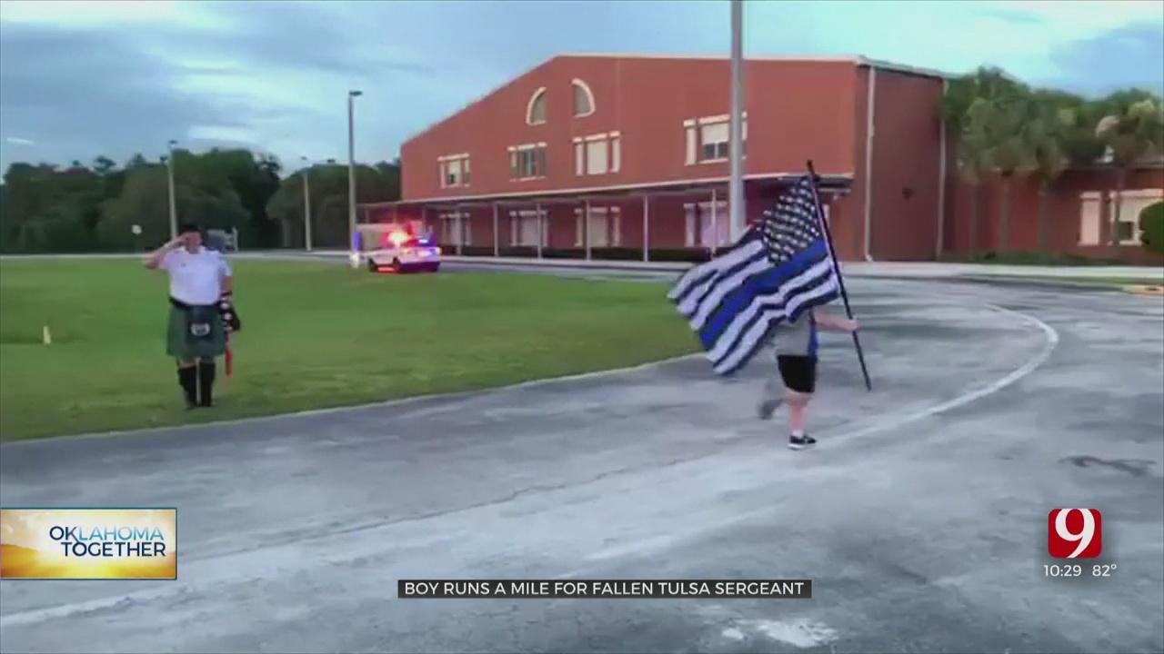 11-Year-Old Boy Runs Mile For Fallen Tulsa Officer