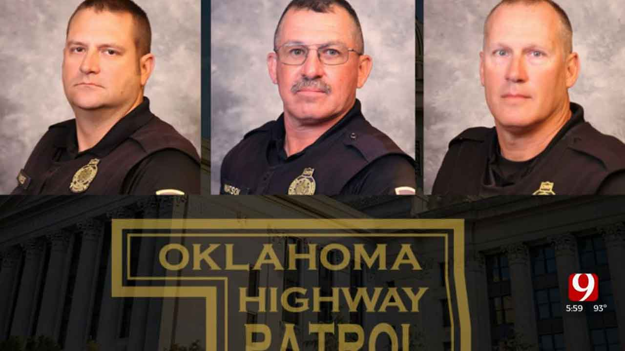 3 Troopers Injured In Serious OKC Crash During Procession For Fallen Tulsa Officer; New Details Released