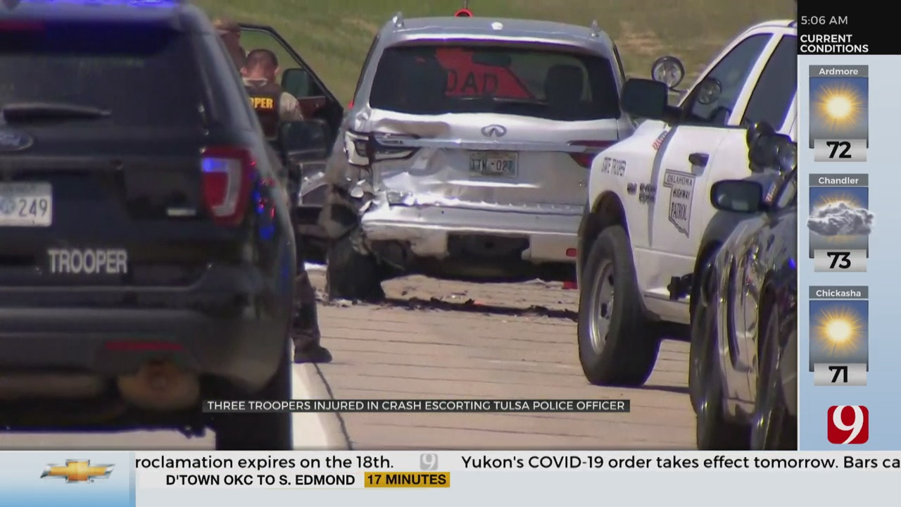 Two Troopers Injured In Procession Crash Have Been Released From The Hospital