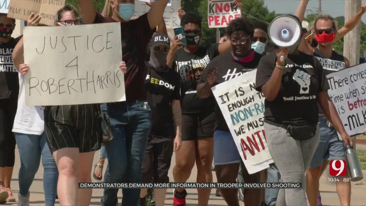 Demonstrators Demand More Information After Fatal OHP Trooper-Involved Shooting