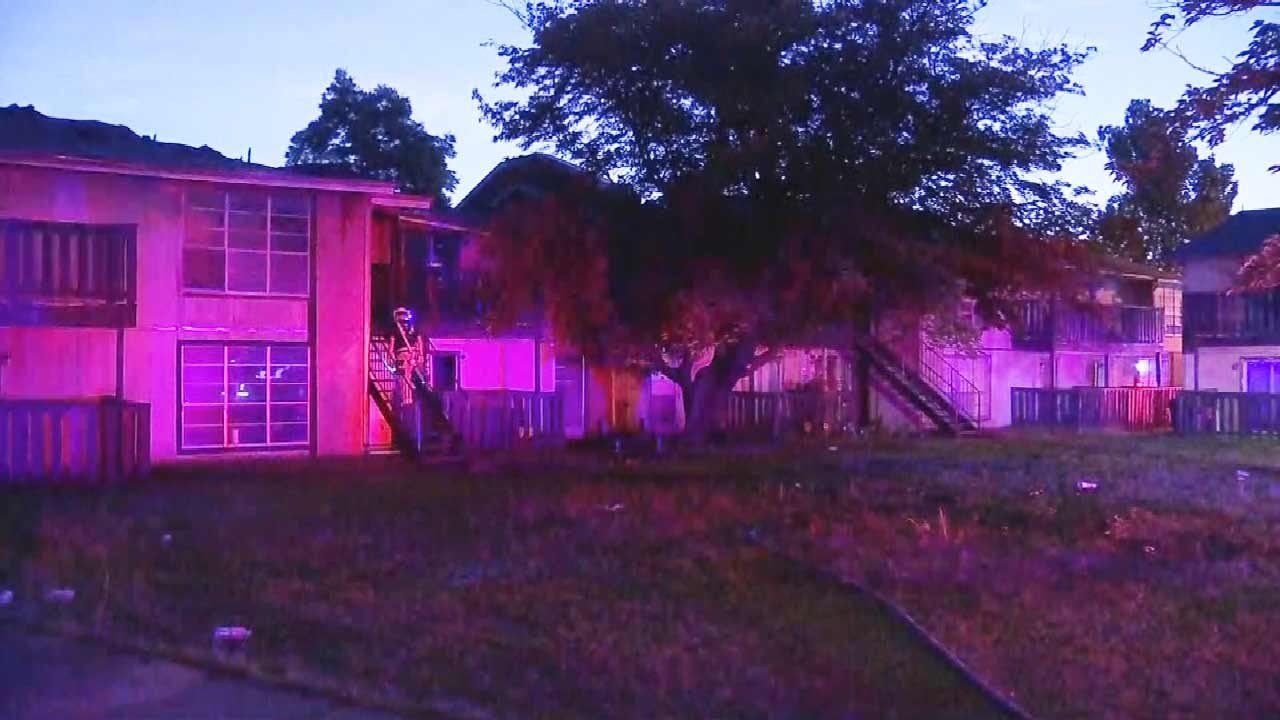 Oklahoma City Firefighters Respond To Fire At Village South Apartments