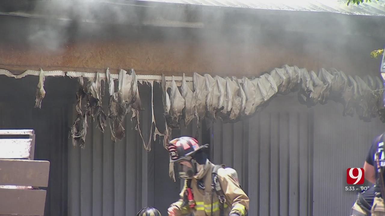 OKC Firefighters Respond To Strip Mall Fire