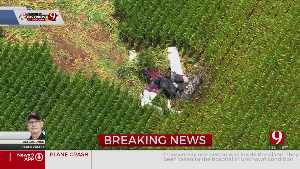 1 Injured In Plane Crash Near Pauls Valley