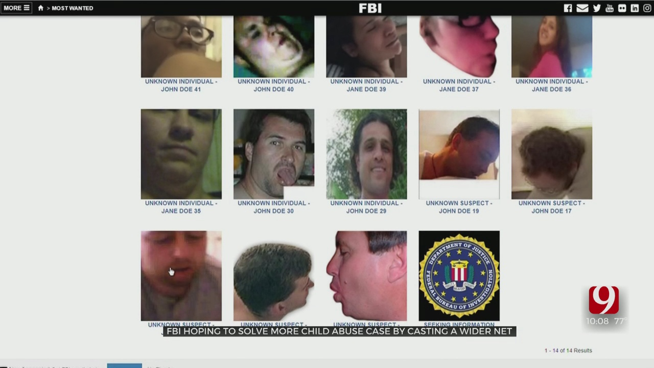 FBI Distributes Adult Images Hoping To Solve More Child Sex Abuse Crimes