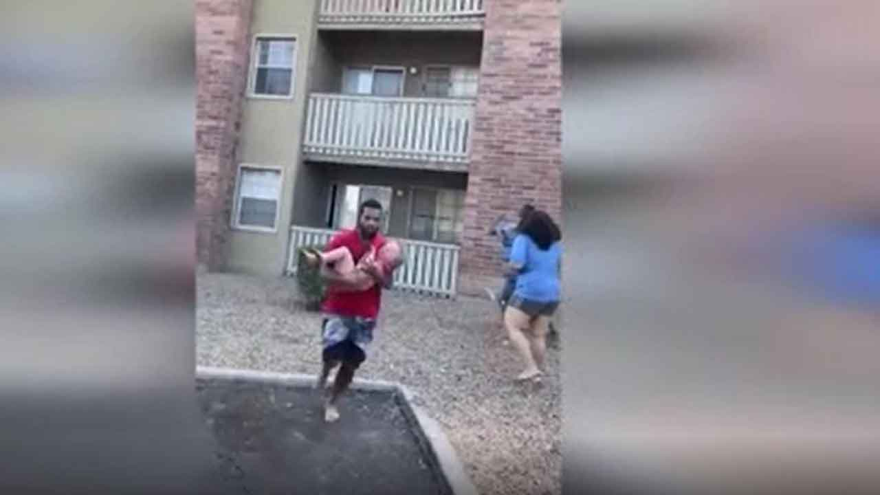 Marine Catches Toddler Dropped From Burning Apartment Building In Phoenix